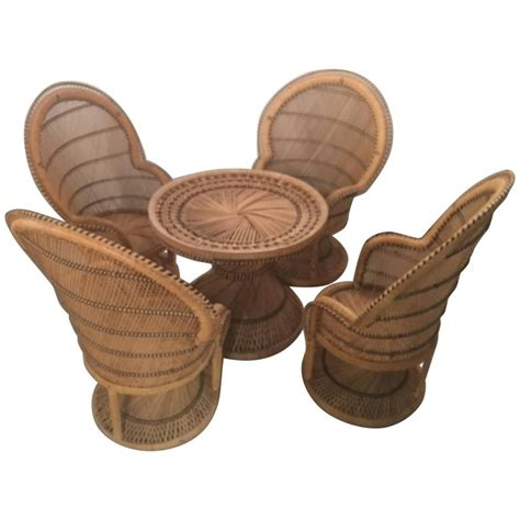 childrens wicker table and chairs rattan wicker children 39 s dining table and chair set for