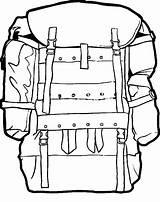 Backpack Coloring Camping Military Pages Drawing Rucksack Anime Bag Hiking Sketch Drawings Backpacks Netart Getdrawings Clipartmag Tent Again Bar Looking sketch template