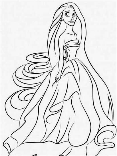 Coloring Tangled Pages Rapunzel Printable Pascal Flynn