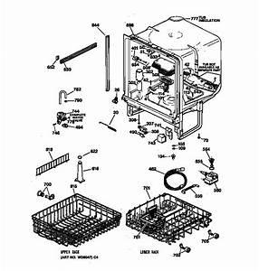 Ge Gsd4030z02ww Dishwasher Parts