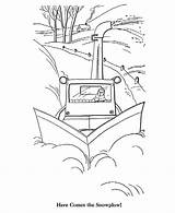 Plow Coloring Snow Pages Winter Sheets Printable Scenes Activity Scenery Scene Template Awesome Site Books Bluebonkers Colouring Printables Popular Templates sketch template