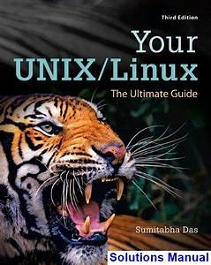 Your Unix Linux The Ultimate Guide 3rd Edition Sumitabha