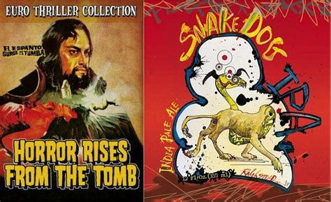 dog tomb rises horror zombie movies flying ipa brew beer adventure