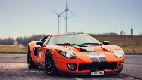 Wallpaper Ford Gt Orange Supercar 1920x1200 Hd Picture, Image