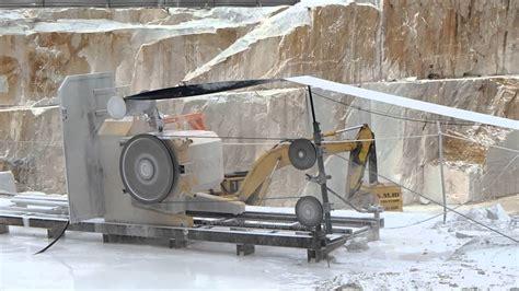 wire saw cutting machine s860eg in carrara white marble