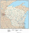 Wisconsin map in Adobe Illustrator vector format – Map ...