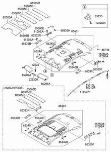 2007 Hyundai Santa Fe Sunvisor Assembly  Right   Right