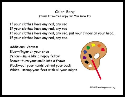 10 preschool transitions songs and chants to help your 395 | ColorSong 1024x800