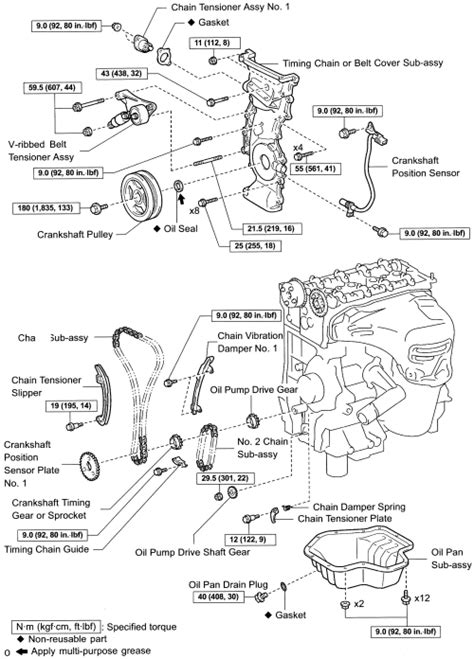 2005 Scion Xb Engine Diagram by Repair Guides Engine Mechanical Components Timing