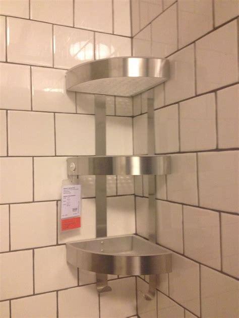 shower corner shelf ikea shower grundtal corner wall shelf unit stainless