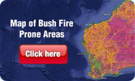 map  bush fire prone areas