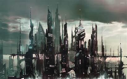 Cyberpunk Futuristic Concept Fantasy Future Artwork Asian
