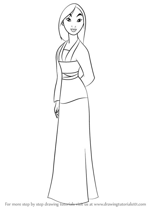 learn   draw fa mulan  mulan mulan step  step