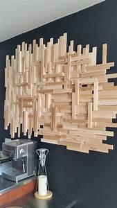 Décoration Murale En Bois : un diy de d co murale en bois pour moins de 20 d conome ~ Dailycaller-alerts.com Idées de Décoration