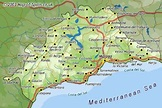 Malaga Tourism Map Region | Map of Spain Tourism Region ...