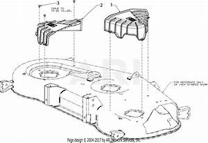 Troy Bilt 17cdcacw066 Mustang Xp 54  2017  Parts Diagram For Deck Covers