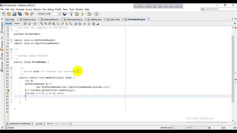 define prime number  java  netbeans edit