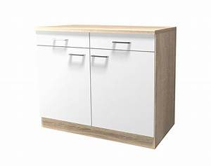 Unterschrank Küche 100 Cm : k chen unterschrank rom 2 t rig 100 cm breit wei k che rom ~ Bigdaddyawards.com Haus und Dekorationen