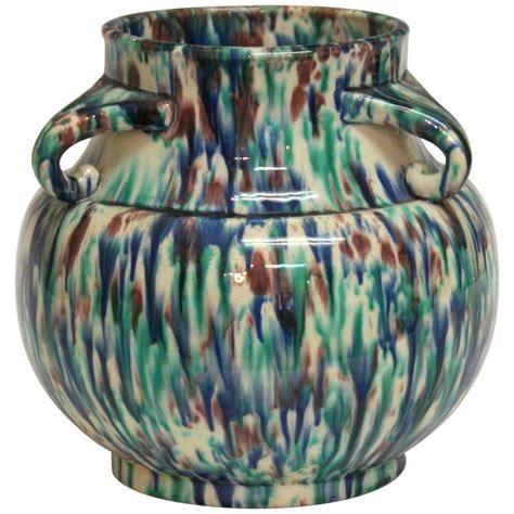 Vintage Deco Vases by Vintage Awaji Pottery Deco Flambe Vase At 1stdibs