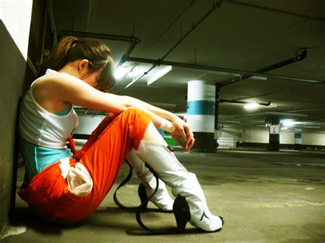 Chell Cosplay Cosplay Pinterest