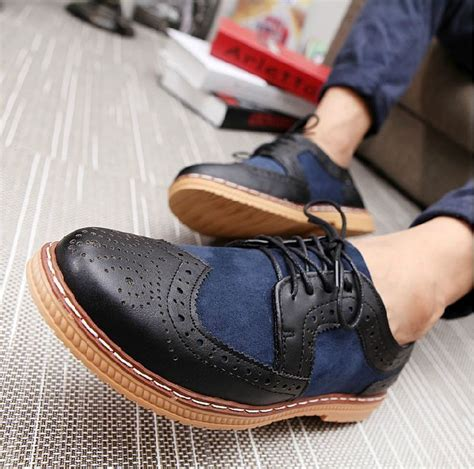 New Fashion Mens Casual Lace Wingtip Oxford Brogues