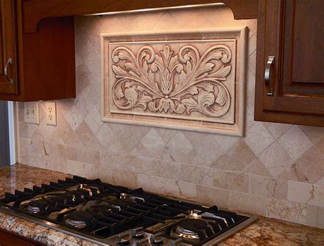 decorative tile backsplash kitchen installations andersen ceramics 6505