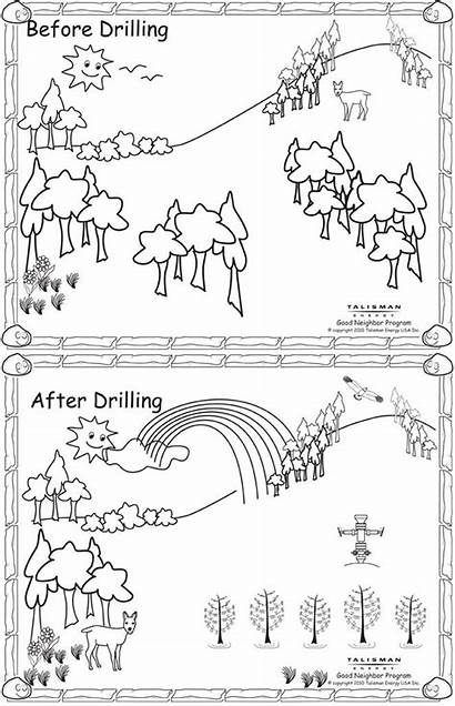 Coloring Pollution Land Pages Clipart Template Persuasion