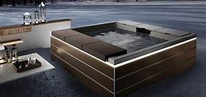 Optirelax premium whirlpools pools sauna for Whirlpool garten mit moderne pflanzkübel innen