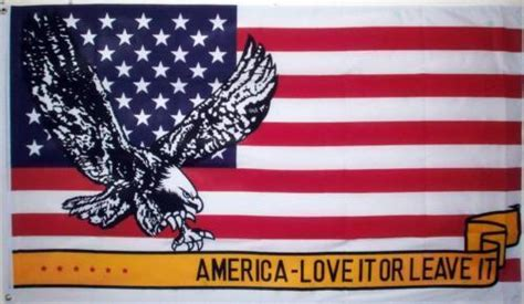 3x5 Usa American Eagle Love It Or Leave It Flag 3'x5