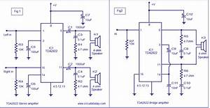 Tda2822 Amplifier Circuit 3v To 15v Operation  For