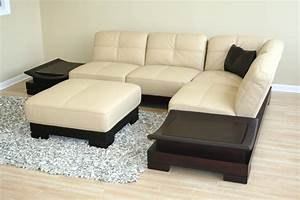 22 inspirations cream sectional leather sofas sofa ideas With sectional sofa centerpiece