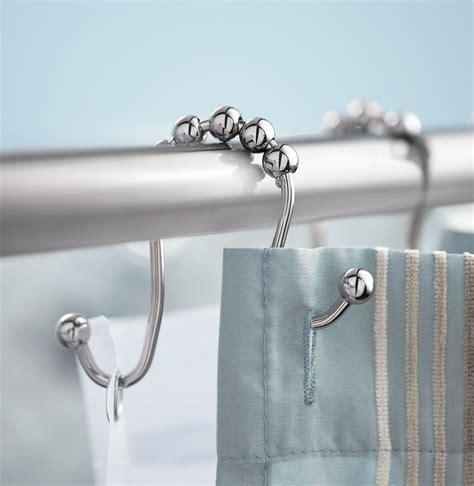 33mm Hanging Rod Metal Double Glide Sliding Bathroom