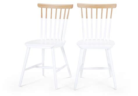 chaises blanc et bois chaise bicolore blanc et bois