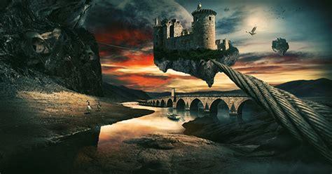 create  surreal landscape  photo manipulation