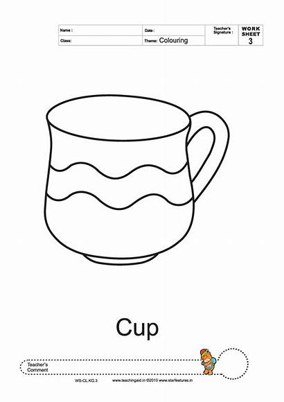 Cup Worksheet Coloring Pages Template