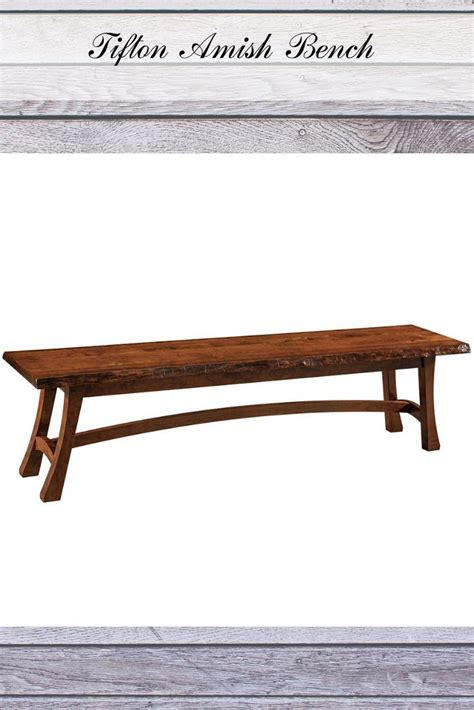 wooden amish bench   dining room rustic style