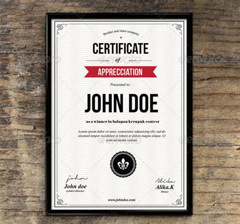 graphic design certificate 35 best certificate template designs web graphic