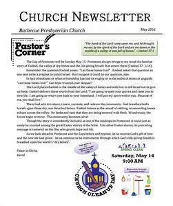 sample church newsletter 9 documents in pdf With free christian newsletter templates