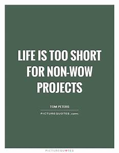 Life is too short for non-WOW projects | Picture Quotes
