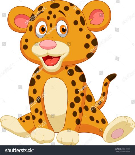 baby leopard clipart baby leopard stock vector 140172571
