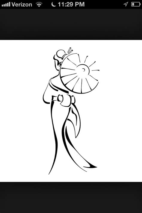 Simple geisha tattoo design | Japanese tattoo designs
