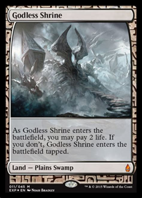 godless shrine battle  zendikar mtg visual spoiler