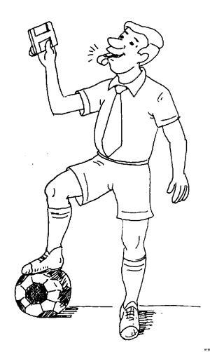 Kleurplaat Richteren 14 by Schiedsrichter 2 Ausmalbild Malvorlage Sport