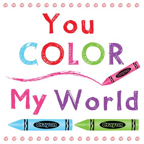 the color of my words color my world printable
