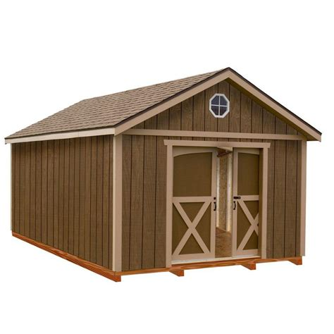 12x16 Shed Kit With Floor by Best Barns Dakota 12 Ft X 12 Ft Wood Storage Shed