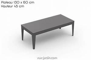 Table Basse Hauteur 60 Cm : zef de matire grise table basse rectangle pour jardin 130 ~ Dailycaller-alerts.com Idées de Décoration