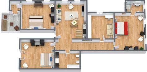planimetria da letto appartamento a venezia con 3 camere da letto e terrazza