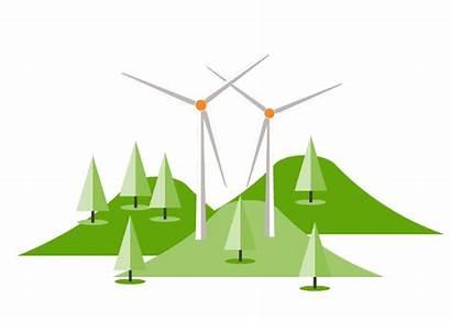 Energy Clipart Wind Windfarm Renewable Transparent Solution