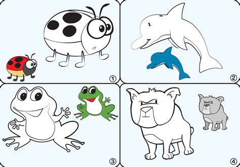 Coloring Vector by Coloring Page Animal Vectors Free Vector