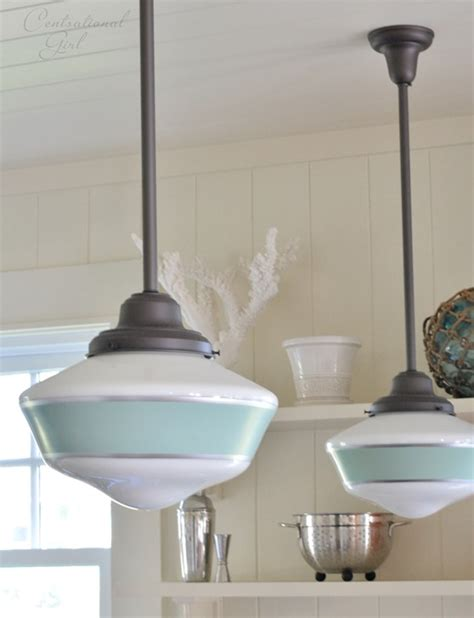 cottage kitchen lighting fixtures schoolhouse pendants grace kitchen of idyllic hawaiian 5908
